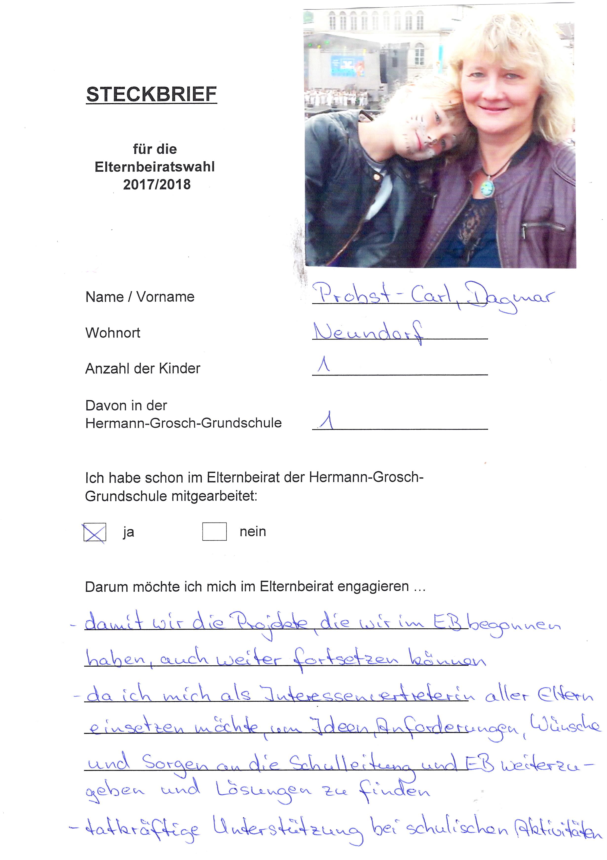Elternbeirat Steckbrief